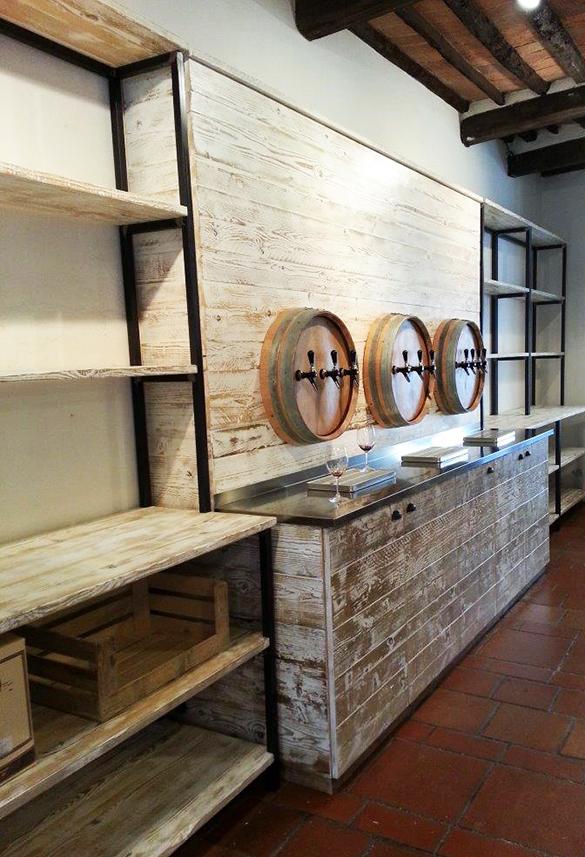Vineria isola d elba design industriale sestini corti for Arredamento salumeria