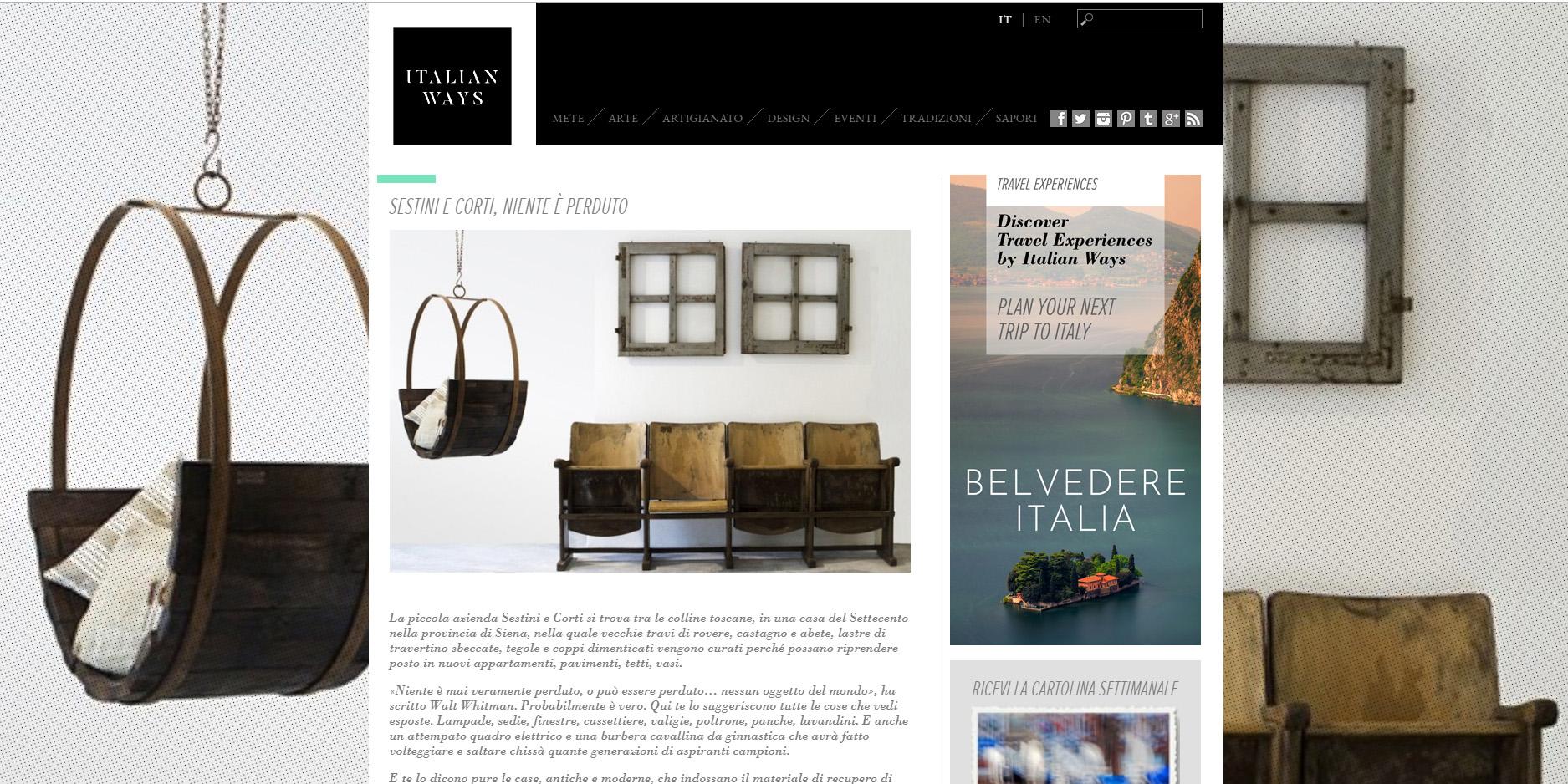 Pezzi Di Design Da Avere blog | sestini e corti
