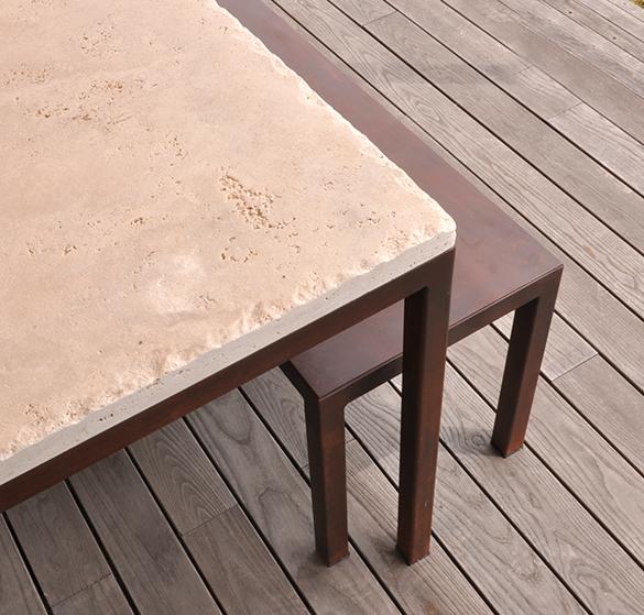 Tavoli In Travertino Da Esterno.Tavolo Per Esterno Design Industriale Sestini Corti