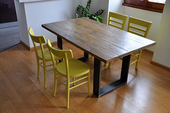 Interior design recupero arredamento design recupero materiali bioedilizia realizzazioni alta - Tavolo con cassette di legno ...