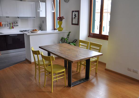 Tavoli Con Legno Di Recupero : Nuova versione tavolo contrasto design industriale sestini corti