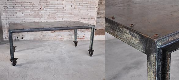 Interior design recupero arredamento design recupero - Tavolo con ruote ...