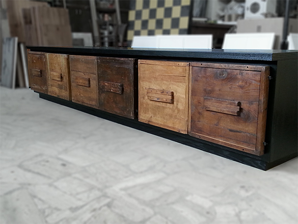 Cabinet with Ballot box doors