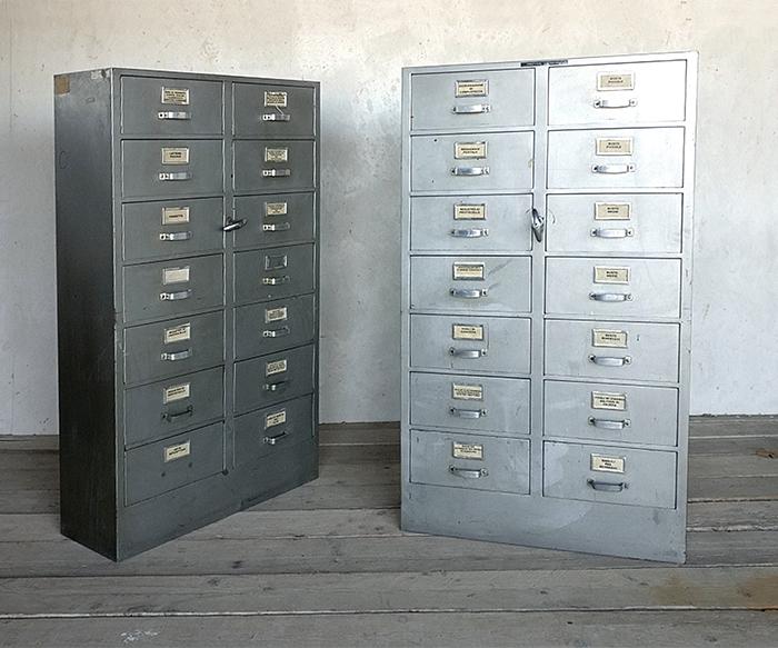 Cassettiera ferro vintage mobili interior design recupero sestini e corti shop online - Mobili in ferro vintage ...