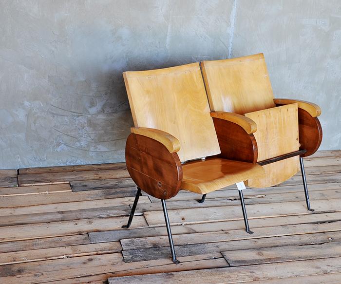 Poltrone cinema legno vintage poltrone interior design for Poltrone design on line