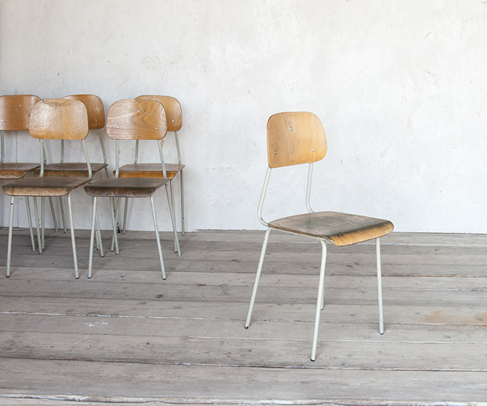 Sedie scuola vintage sedie interior design recupero for Sedie design vintage