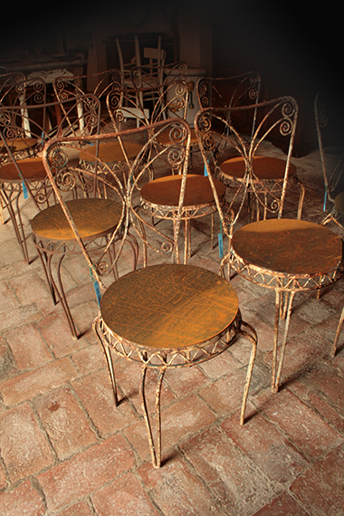 Sedie in ferro battuto antiche design casa creativa e for Sedie da esterno in ferro battuto