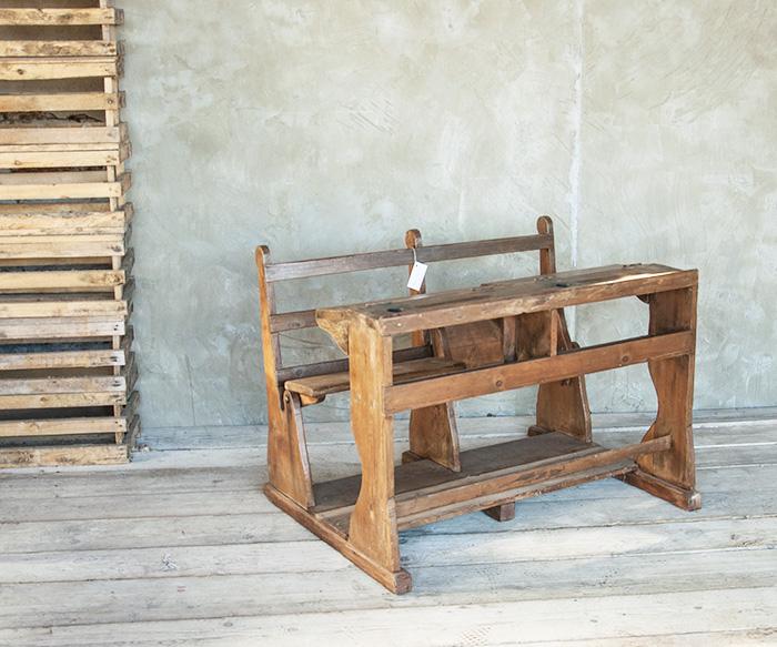 Banco scuola vintage tavoli interior design recupero sestini e corti