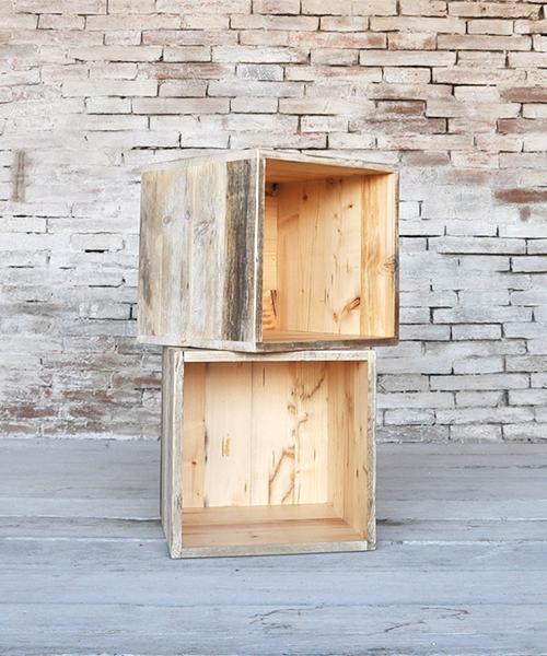 Prodotti cubi shop online interior design recupero for Cubi in legno arredamento