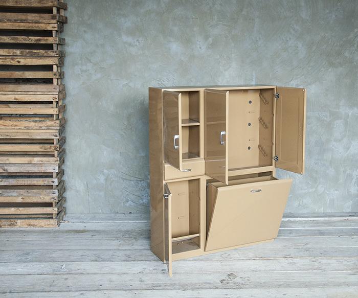 Mobiletto marrone ferro vintage mobili interior design recupero sestini e corti shop online - Mobili in ferro vintage ...