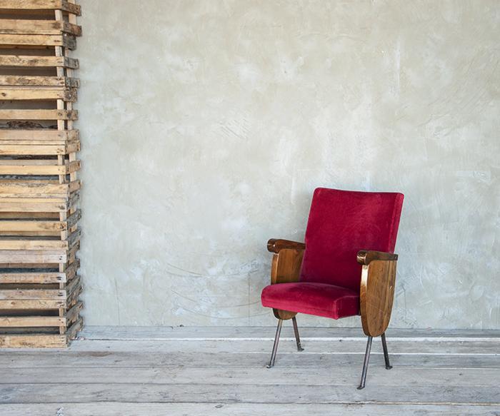 Poltrona cinema velluto 2 vintage poltrone interior design for Poltrone design outlet online
