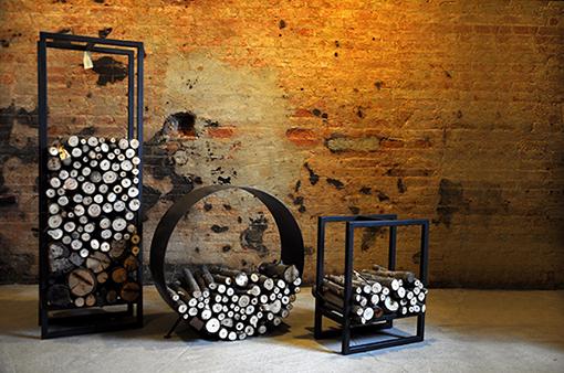 Interior design recupero portalegna realizzati in ferro per contenere ...