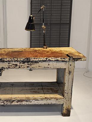 Forno rotor, cucina: Vecchi tavoli da lavoro